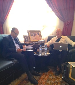 Meeting with the Governor of province Al Haouz 1.9.2014 for receiving official research permission