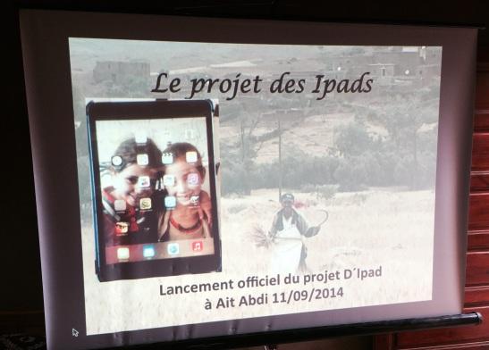 multimedia show- launching ipad project