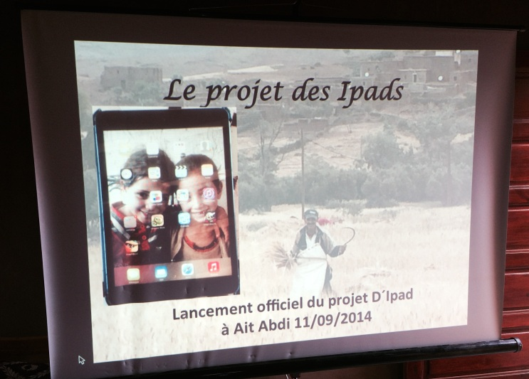 multimedia show- launching ipad project