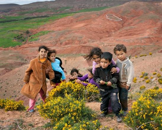 barna på fjellet